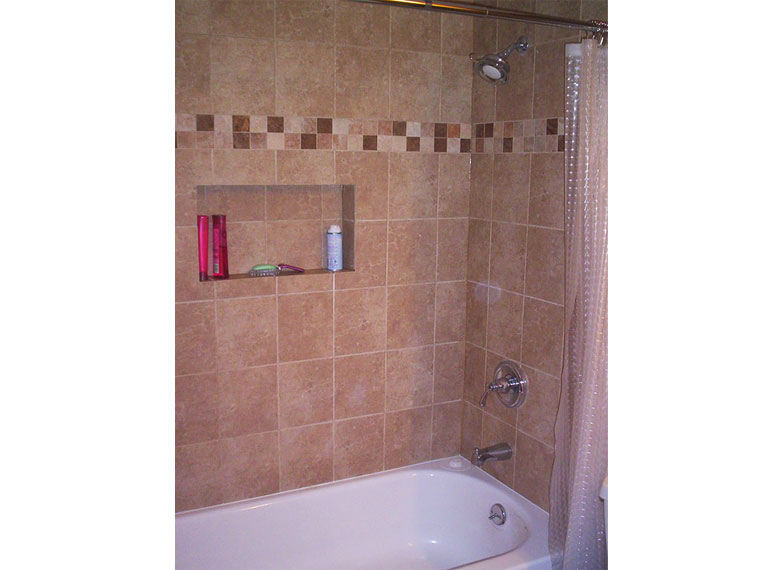 Burst-Pipes-to-a-beautiful-tiled-tub in Downers Grove, IL