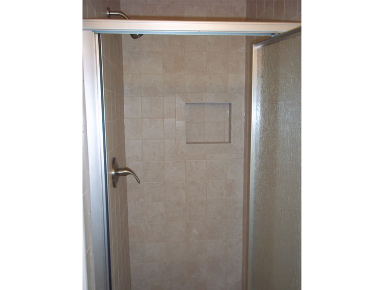 New shower with tile alcove in West Dundee, IL
