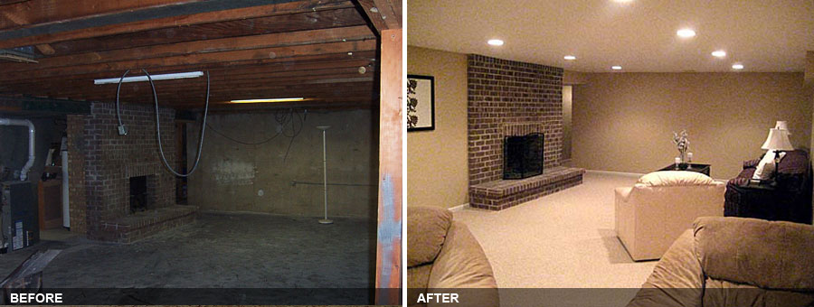 Finished Basements By Avidco Ge County Area Decorating. Basement Finishing  Before After Photos