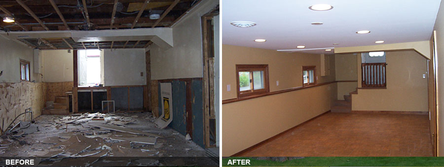 Elmhurst Basement Remodel. BEFORE. AFTER